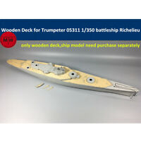 1/350 Wooden Deck for Trumpeter 05311 French Battleship Richelieu Model Kits