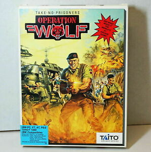 """Taito Operation Wolf Arcade Game IBM-PC XT AT Tandy 1000 1989 Video Game, 5.25"""""""