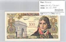 BILLET 100 NF/10000 F 10000 F surchargé 100 Nouveaux Francs BONAPARTE  30/10/58*