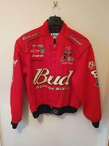 Men's Chase Authentics NASCAR Jacket #8 Dale Earnhardt Jr Size XL Budweiser