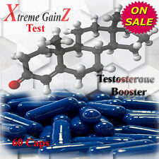 60 TESTOSTERONE BOOST CAPSULES STRONG MUSCLE GROWTH - TEST POWER ENHANCER PILLS
