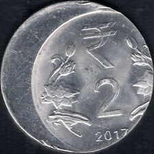 INDIA  Rs.2/- STEEL COIN OFF CENTRE & BOTH SIDE DOUBLE  DIE IMPRESSION ERROR