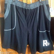Rocawear Athletic Shorts 3XB Black Grey Pull Up