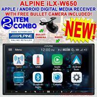 "ALPINE iLX-W650 7"" DOUBLE DIN DIGITAL MEDIA RECEIVER APPLE CARPLAY ANDROID AUTO"