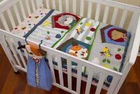 Quilt Cotton Cot Baby 3 PCE Crib Nursey Comforte Quilt Puppy Embroidered Bedding