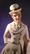 Antique 1951 Florence Ceramics HP Jay by Wall Figurine