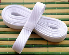 "White 5yds 3/8"" (10 mm)Solid Grosgrain Ribbon Hair Bows Ribbion"