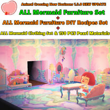 Animal Crossing:New Horizons 1.3.0 ALL Mermaid Furniture Set + DIY + Clothes NEW
