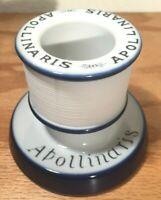 Antique Apollinaris Ceramic Match Holder Striker, Very Nice and Unique