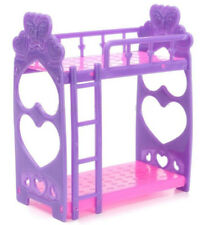 Plastic Bunk Bed With Ladder 1:6 For Barbie Doll's House Dollhouse Furniture@