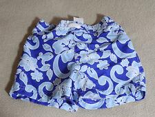 Toddler Boy's Swim Trunks Sz 12 Months/Medium (18-23 lbs) Blue Hawaiian Flowers