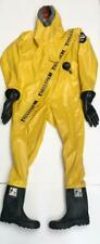 TRELLCHEM TYPE 1B-ET-B TRELLBORG SUPER HAZMAT PROTECTION CHEMICAL SUIT SIZE L #1