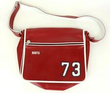 Roots Canada 73 Red / White Messenger Bag Cross Body Red