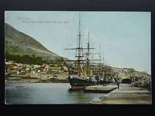 More details for gibraltar south view of town & docks / tall ship old rp postcard by a. benzaquen
