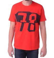 DIESEL hombre talla L t-reyn Camiseta cuello en Pico Top Manga Corta