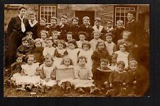 Tal y Sarn - Infant School (1907) - real photographic postcard