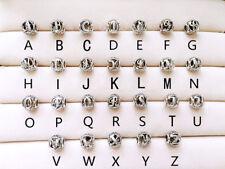 Genuine Pandora Alphabet Vintage Letter Charm Silver Bead all A-Z