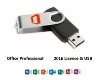 Ms Office Professional 2016 1 User Pc Product Key and Flash Drive