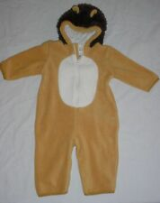 EUC Baby GAP Brown Faux Fur LION Hooded Fleece Halloween Costume 12-18 M