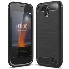 Gummi Hoesje voor Nokia 1 Silicone Zacht Beschermhoes Smartphonehoesje Zwarte
