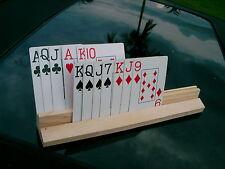 "PLAYING CARD HOLDER / RACK  HANDS FREE BRIDGE, CANASTA  10""  2-TIER"