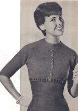 Vintage Crochet PATTERN Empire Jacket Sweater Cardigan