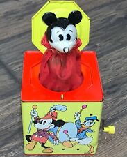1950's VINTAGE MICKEY MOUSE JACK IN THE BOX CARNIVAL Toys Walt Disney