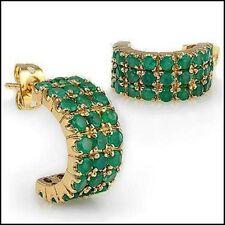 4.12 Carats CTW Green Agate Designer Earrings--List $319.00