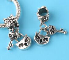 2pcs Tibetan silver mask Charm bead fit European Bracelet Pendant #F162