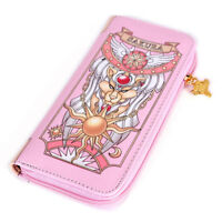 Cardcaptor Sakura Clow Sealing Wand Zipper Wallet Purse Cosplay Clutch Coin Bag