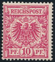 DR 1893, MiNr. 47 da, tadellos postfrisch, gepr. Wiegand, Mi. 150,-