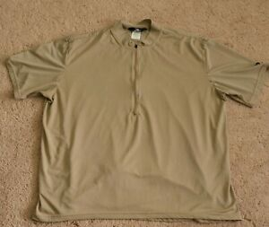 Bellwether Mens Cycling Jersey 2XL XX-Large Pockets 1/2 Zip Gold Vtg Made in USA