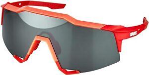 100% Percent Cycling SPEEDCRAFT - Soft Tact Stone Grey - HiPER Coral Lens