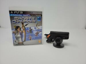 Sony Playstation 3 Eye Camera Game Bundle PS3 W/ Sports Champions TESTED