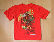 Lego Ninjago orange poly cotton t-shirt tee shirt Kids S