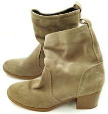 WHITE MOUNTAIN Beige Tan Suede Leather Over the Calf Boots Women's Shoes 7M
