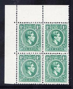 JAMAICA GVI 1951 SG122a 1d blue-green - unmounted mint - block of 4. Cat £19