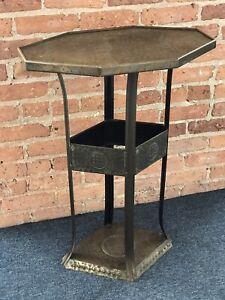 Vintage Hand hammered Brass Side Table