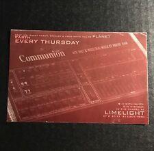 Rare Vintage 90s NYC Club Flyer Invite: COMMUNION Thursdays @ LIMELIGHT