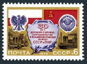 Russia 4331 block/4,MNH.Mi 4384. Treaty of Friendship Poland-USSR,30th Ann.1975.