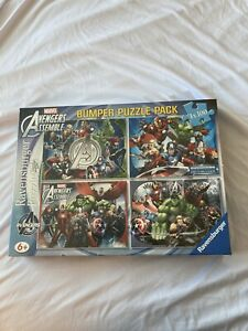 Marvel Avengers Assemble Ravensburger Sealed 4x 100 Piece ~ Bumper Puzzle Pack