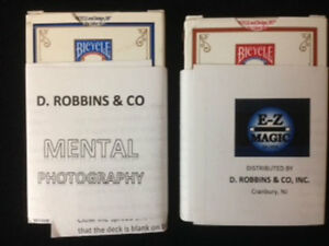 BRAND NEW CARDS - Mental Photo Deck - Bicycle Poker (E-Z) (Blue Deck)
