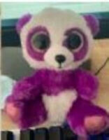 "NEW Beanie Baby Boos Purple Panda 6"" No Tags GREAT for Crafters!"