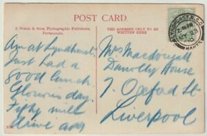 Postal History: LYNDHURST RSO 1910 postmark cancellation postcard Cat & Fiddle