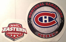 "Montreal Canadiens FATHEAD LOT/2 Circle Logo 15"" x 15"" & Conference Logo 10""x7"""