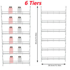 6 Tiers Kitchen Spice Rack Organizer Storage Shelf Pantry Wall Hanging Holder