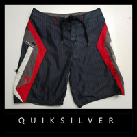 Quiksilver Men Swimwear Casual Outdoor Cargo Board Shorts Size 34 Gray