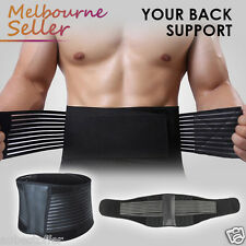 NEW Premium Lumbar & Lower Back Support Belt Brace Strap, Posture Waist Trimmer