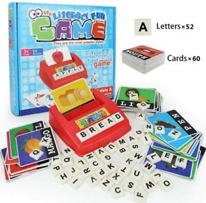 Matching Letter Game, Alphabet Reading & Spelling, Words & Objects, Number & Col