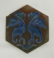 Vintage Malibu Tile with Mythical Winged Griffins